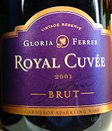 Gloria Ferrer Royal Cuve 2001 label